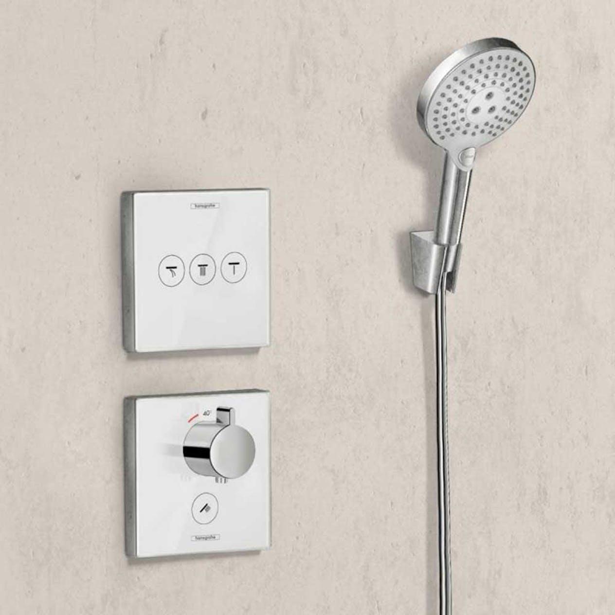 Duschblandare Hansgrohe ShowerSelect Glass 3 Funktioner Vit Krom. 30%. tom 1 4.  Kampanj 997350e2aad4b