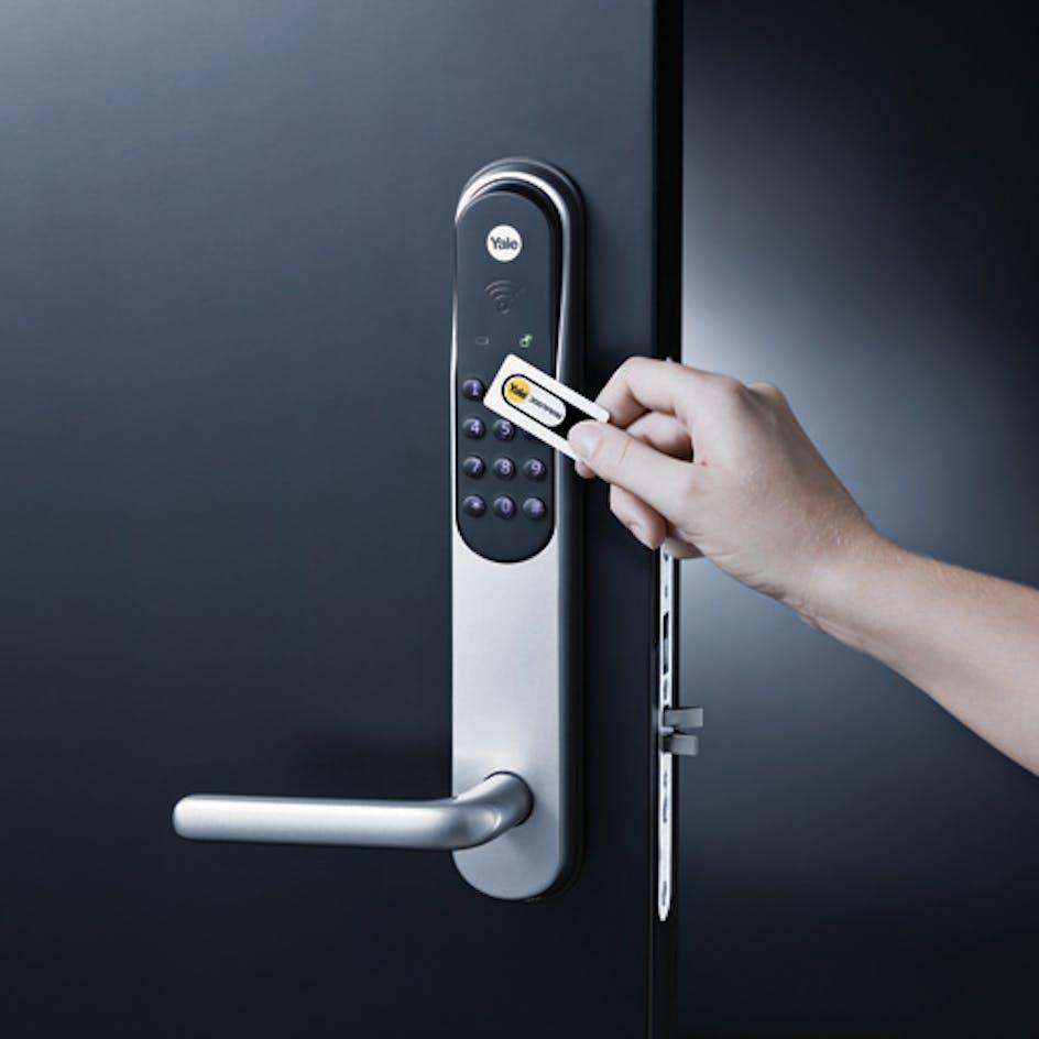 Efterstræbte Elektronisk Dørlås Yale Doorman Swedoor Montert i Dør LI-28