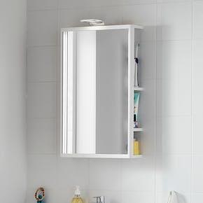 Speil med oppbevaring Hafa One Hvit Matt