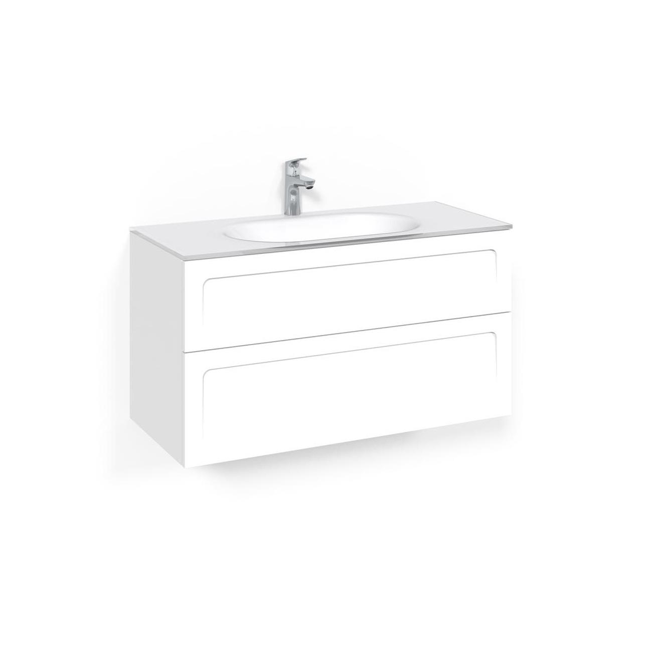 Tvättställsskåp Macro Design Crown Ramlucka Edge 14