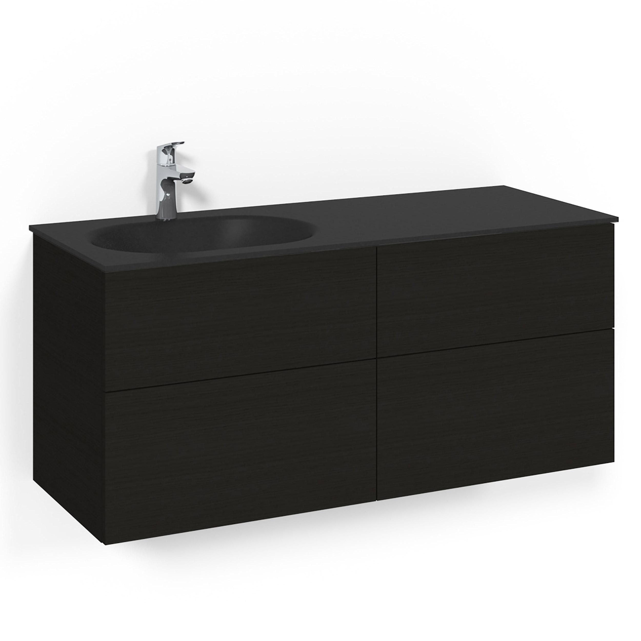 Tvättställsskåp Macro Design Crown Plain Med Glastvättställ