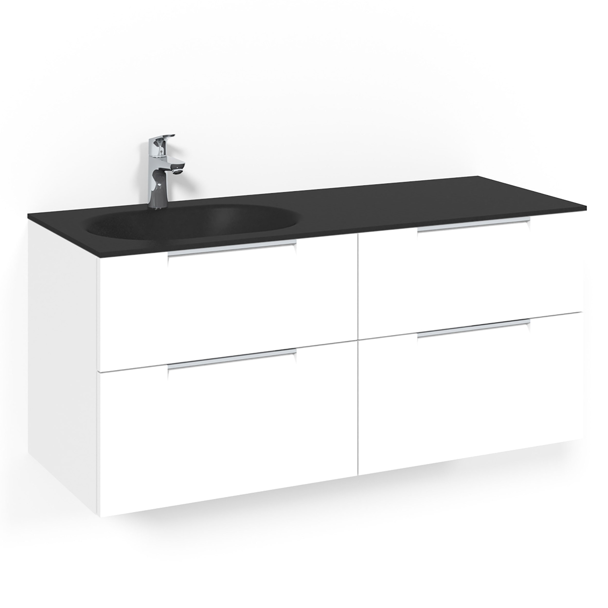 Tvättställsskåp Macro Design Crown Grip Med Glastvättställ