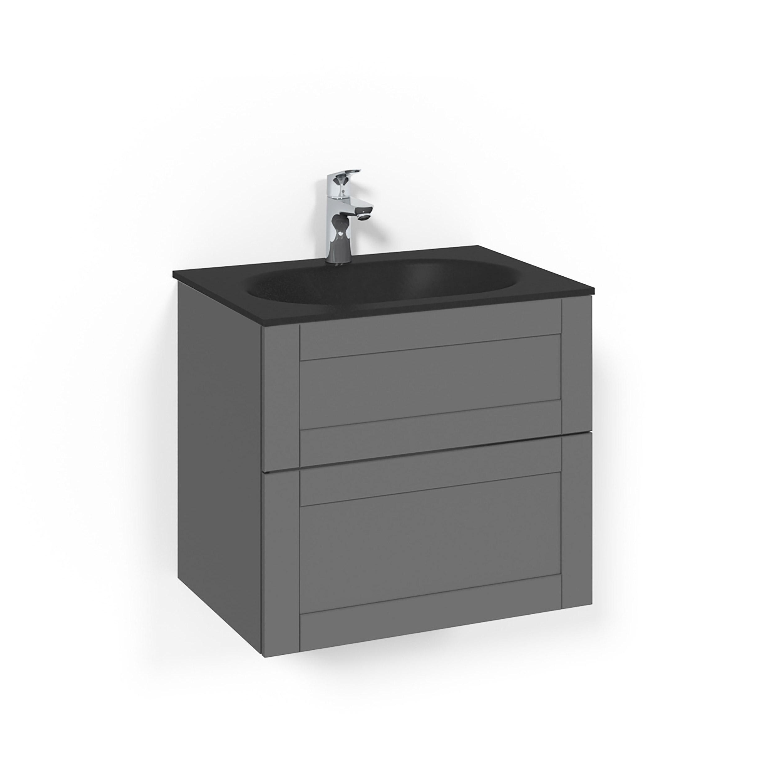 Tvättställsskåp Macro Design Crown Frame Med Glastvättställ