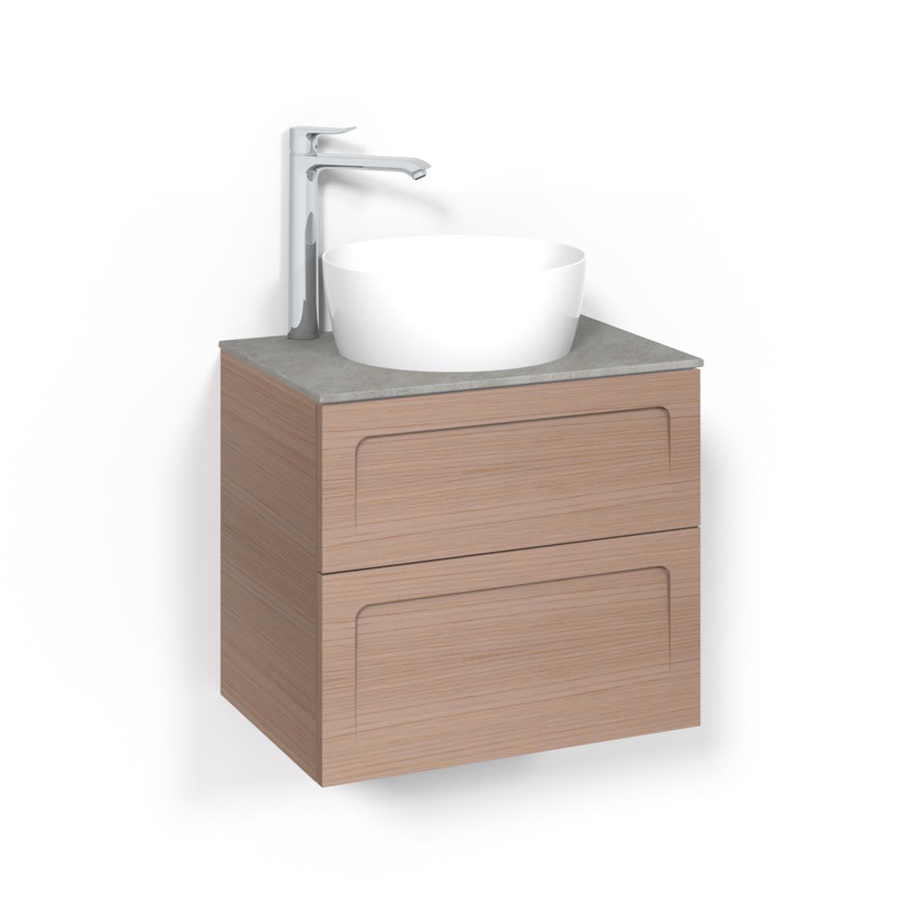 Tvättställsskåp Macro Design Crown Ramlucka Ovanpåliggande Tvättställ