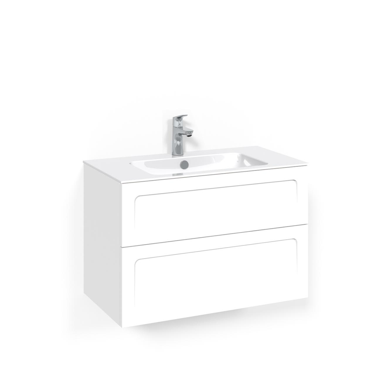 Tvättställsskåp Macro Design Crown Ramlucka Light 8