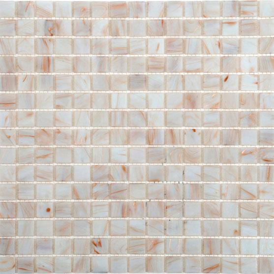 Glasmosaik Arredo White/Gold 2×2 cm