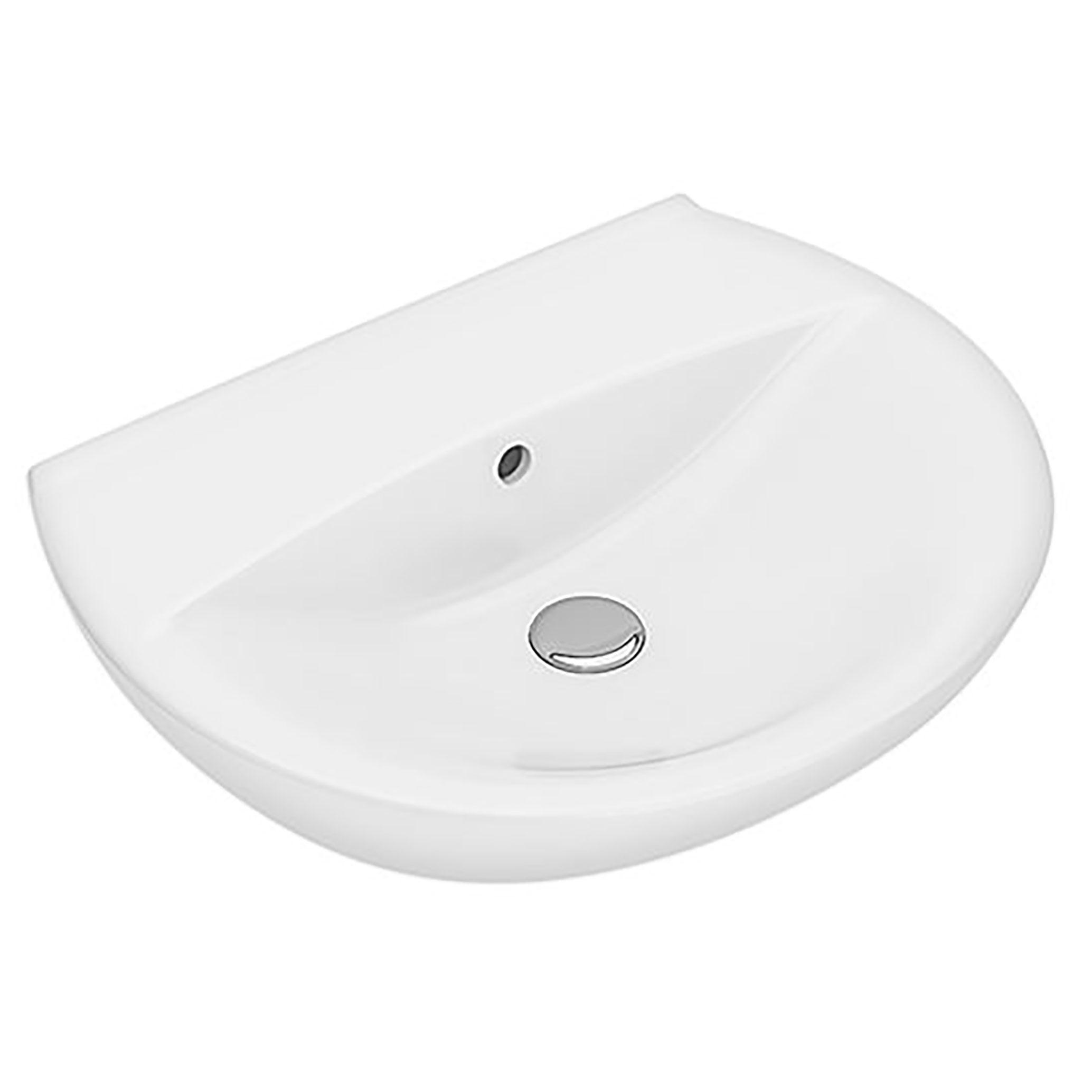Tvättställ Ifö Spira 600 mm Runt Utan Kranhål