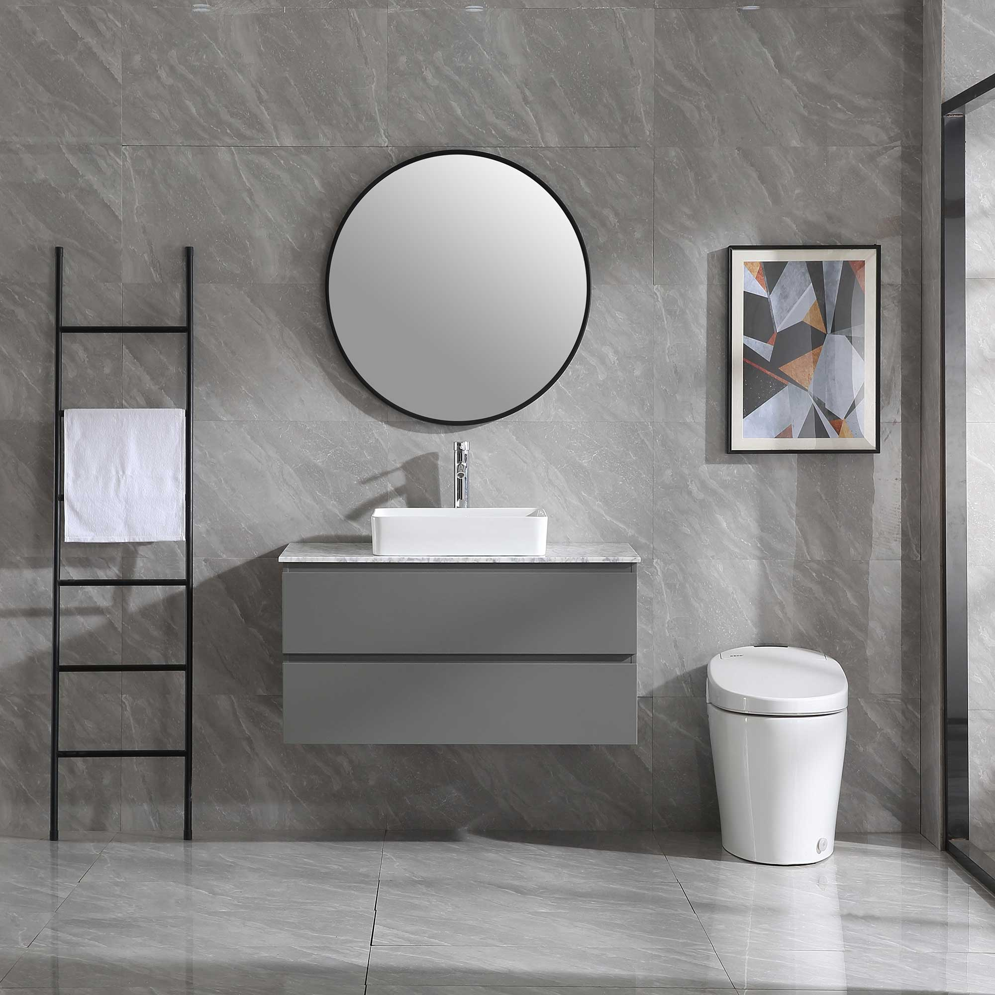 Tvättställsskåp Bathlife Extas Grå