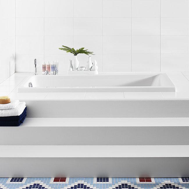 Inbyggnadsbadkar Gustavsberg 3600 Längd 1600 Standard