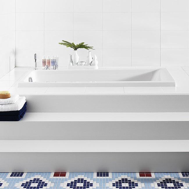 Inbyggnadsbadkar Gustavsberg 1700 Standard