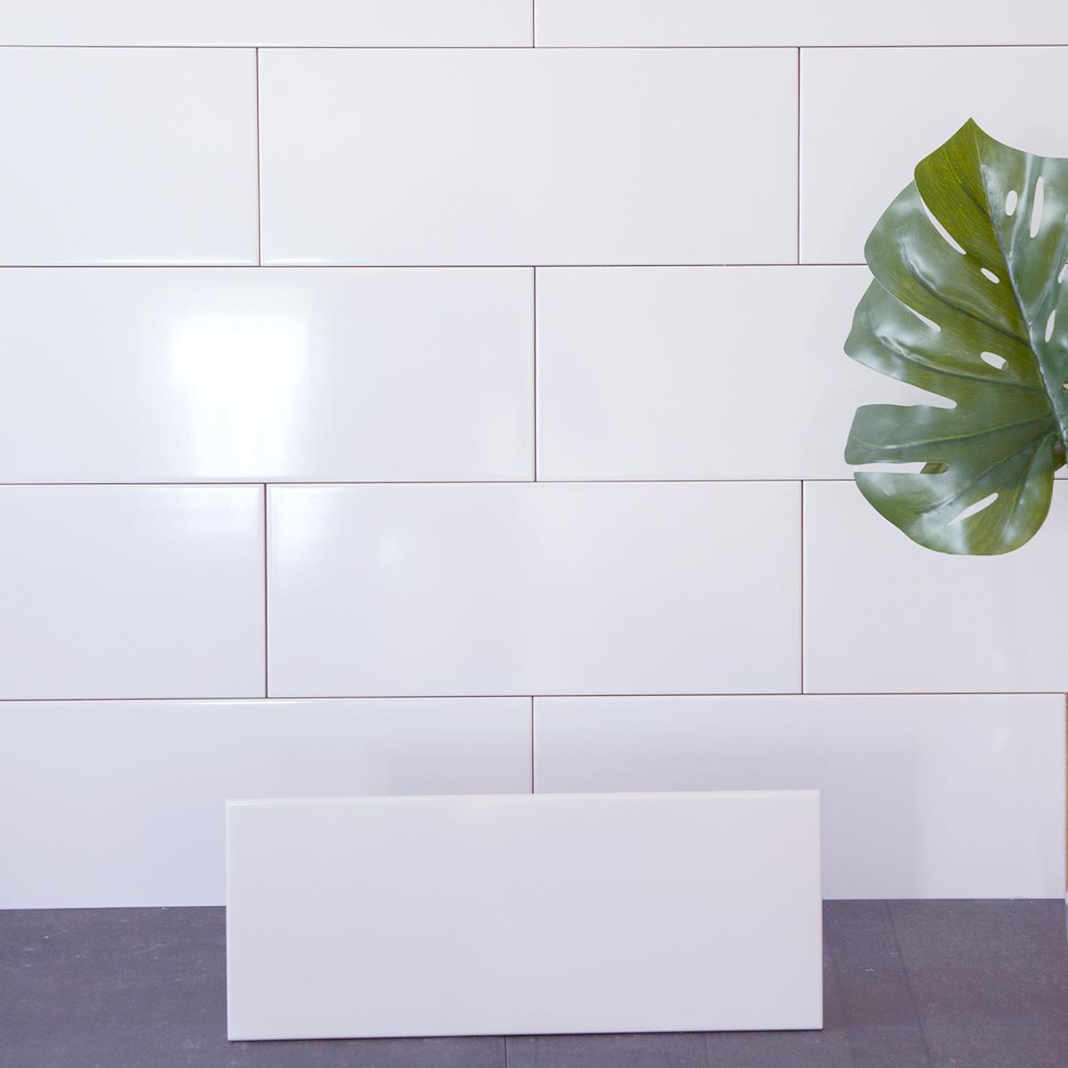 Kakel Polar Vit Blank 20×50 cm