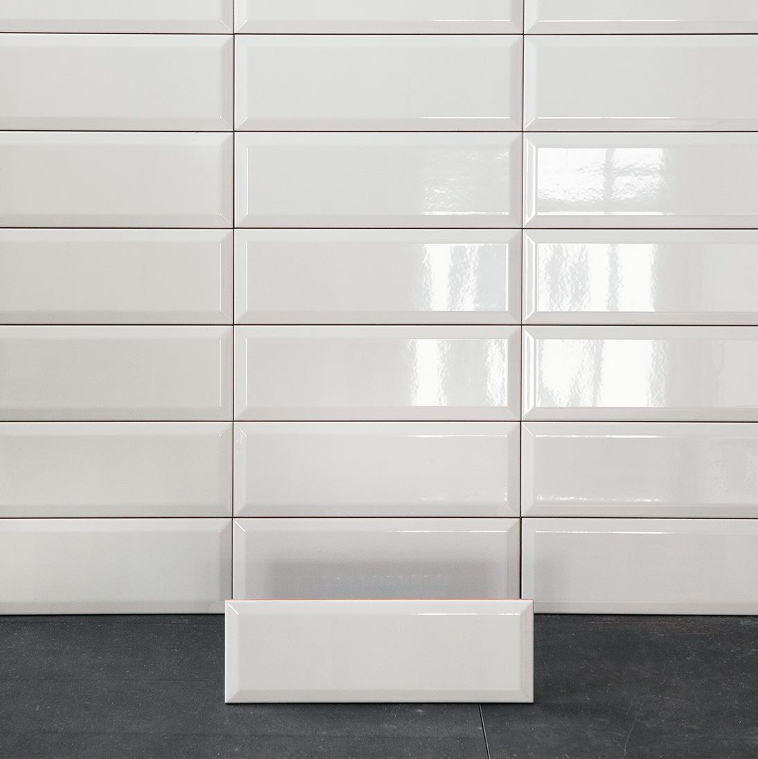 Kakel Biselado Blank Vit 10×30 cm