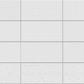 Flis Fatracci Hvit 10x20 cm