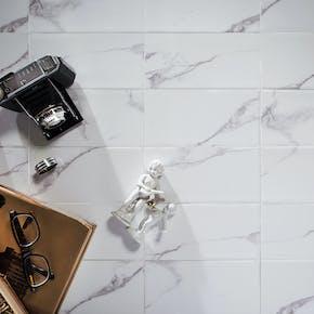 Flis Hill Ceramic Carrara Hvit 10x20