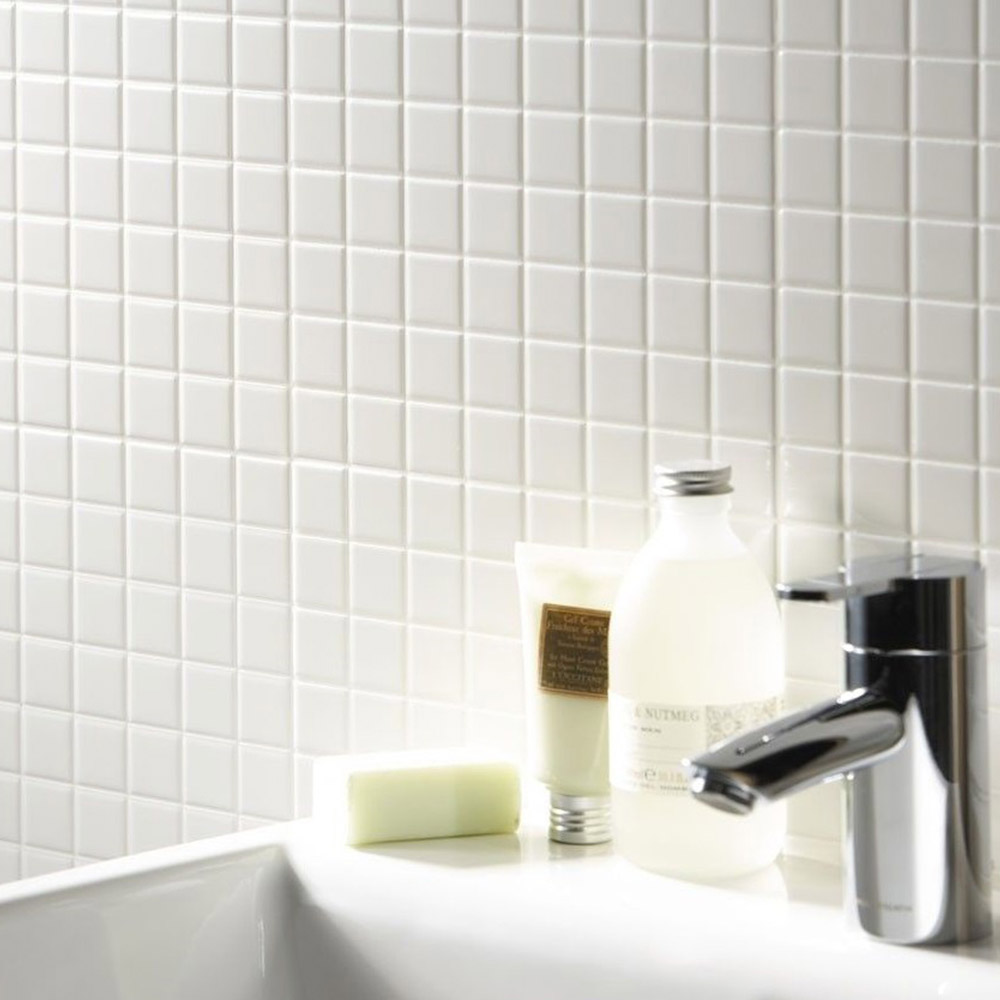 Mosaik Royal Vit Matt 3x3 cm