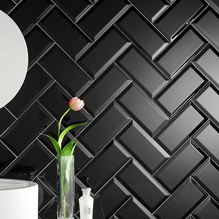 Kakel Color Negro Fasad Blank 8×15 cm