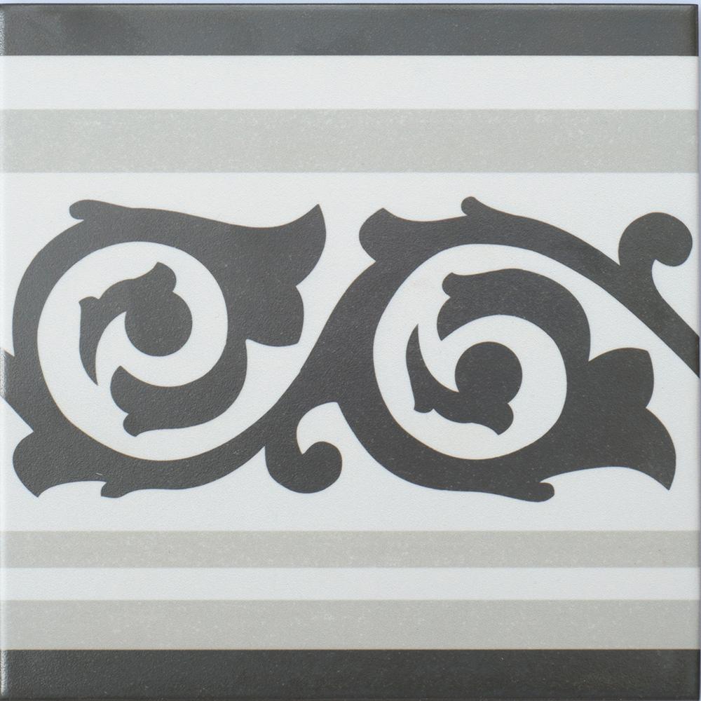 Klinker Anastasia Grey 20×20 cm Border