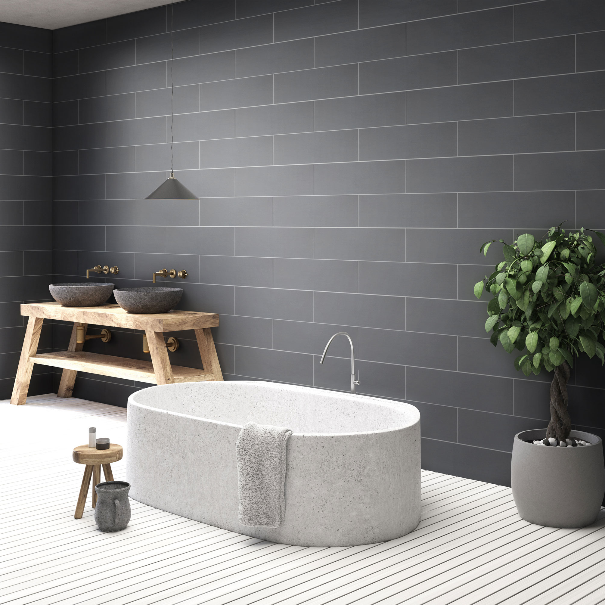 Klinker Arredo Bamboo Black 15×60 cm