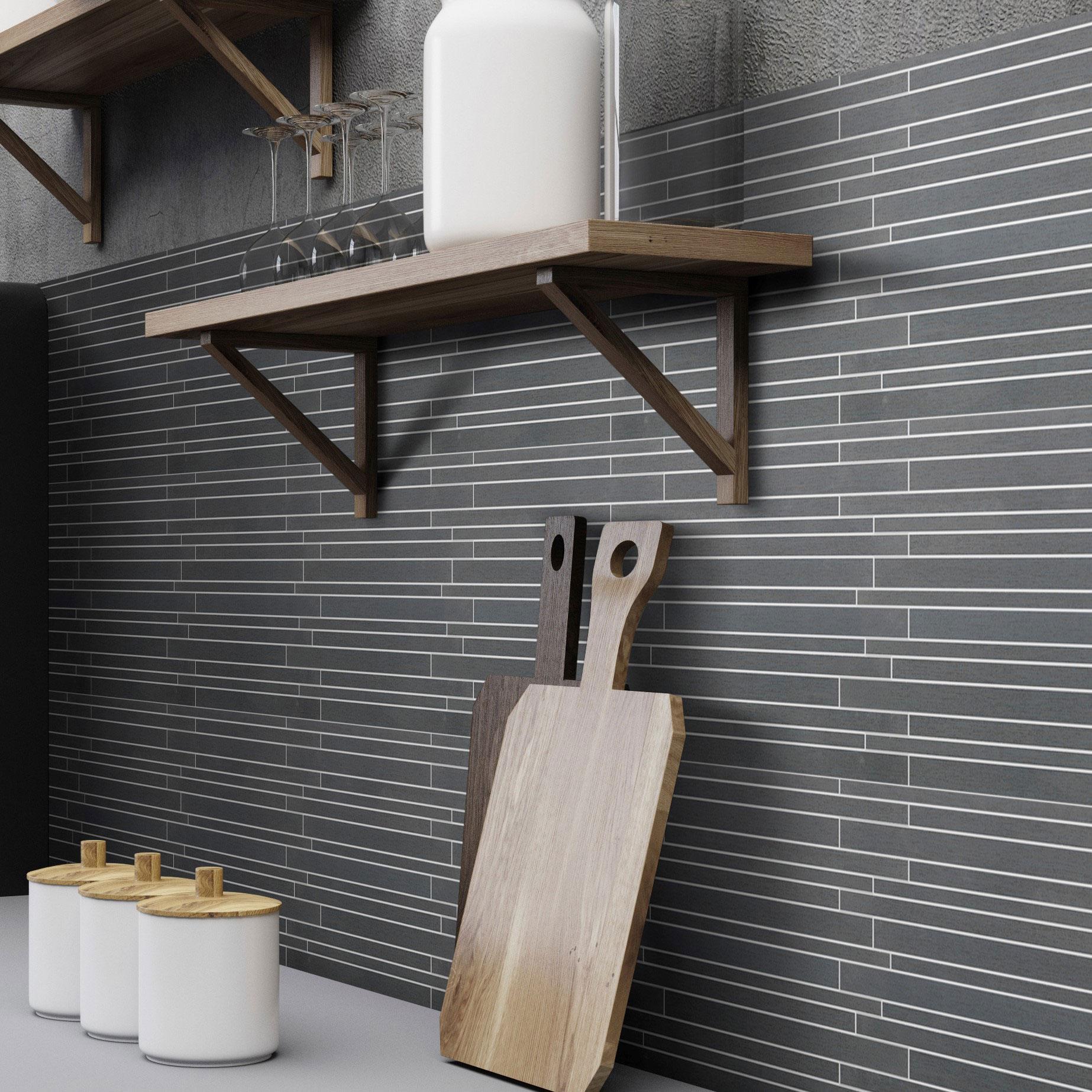 Klinker Arredo Bamboo Black Mosaic 2×30 cm