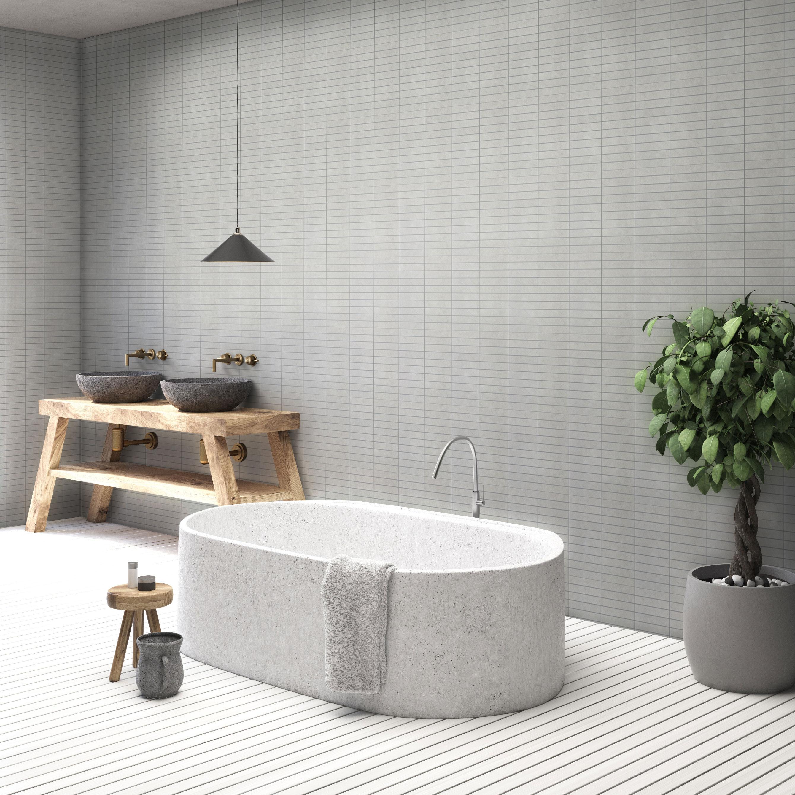 Klinker Arredo Quartz Grey Mosaic 3×15 cm