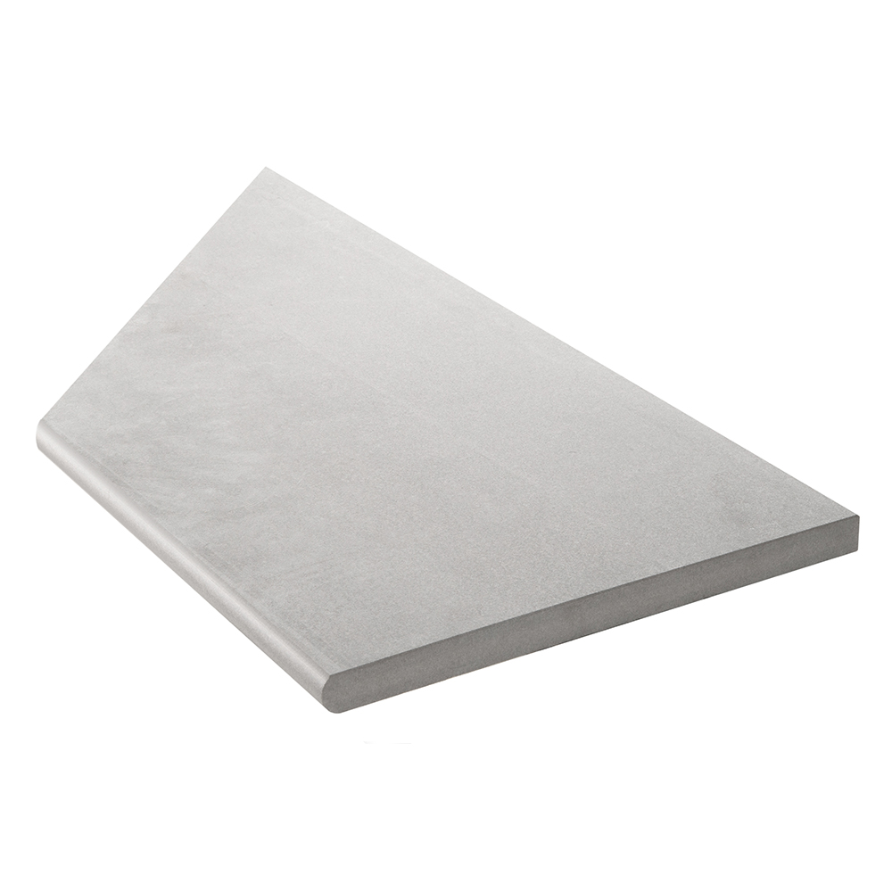 Klinker Bricmate Z Limestone Light Grey Pool Inner Corner Right 30×60 cm