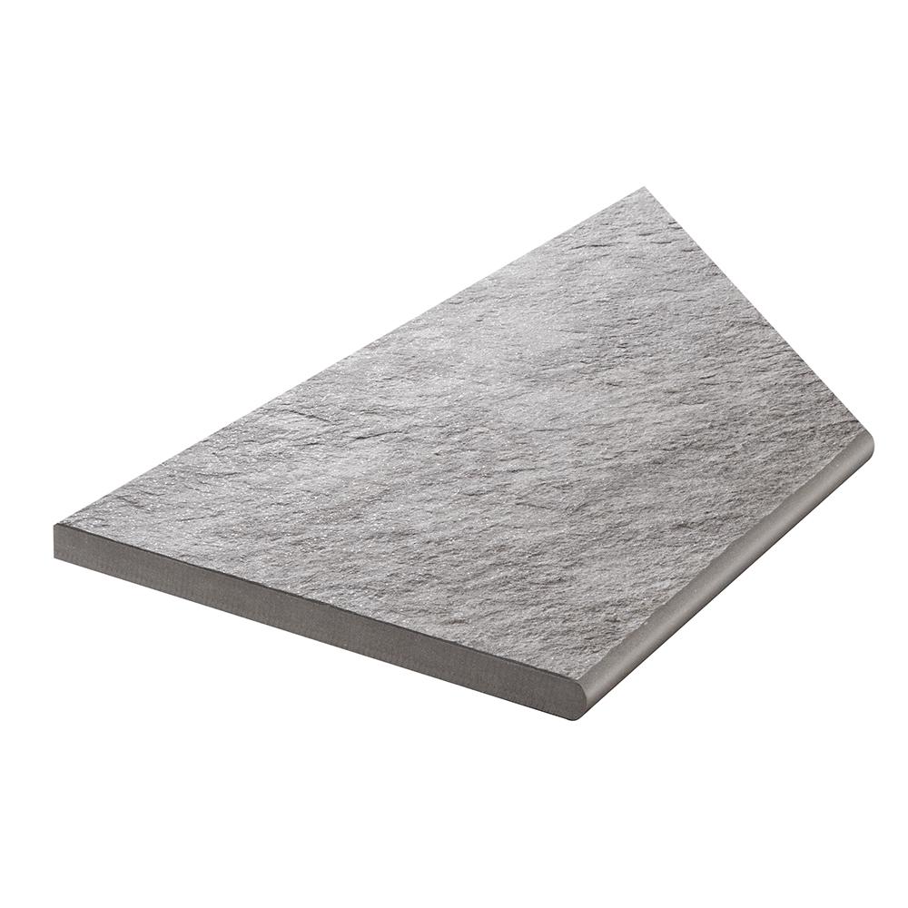 Klinker Bricmate Z Quartzit Grey Pool Inner Corner Left 30×60 cm