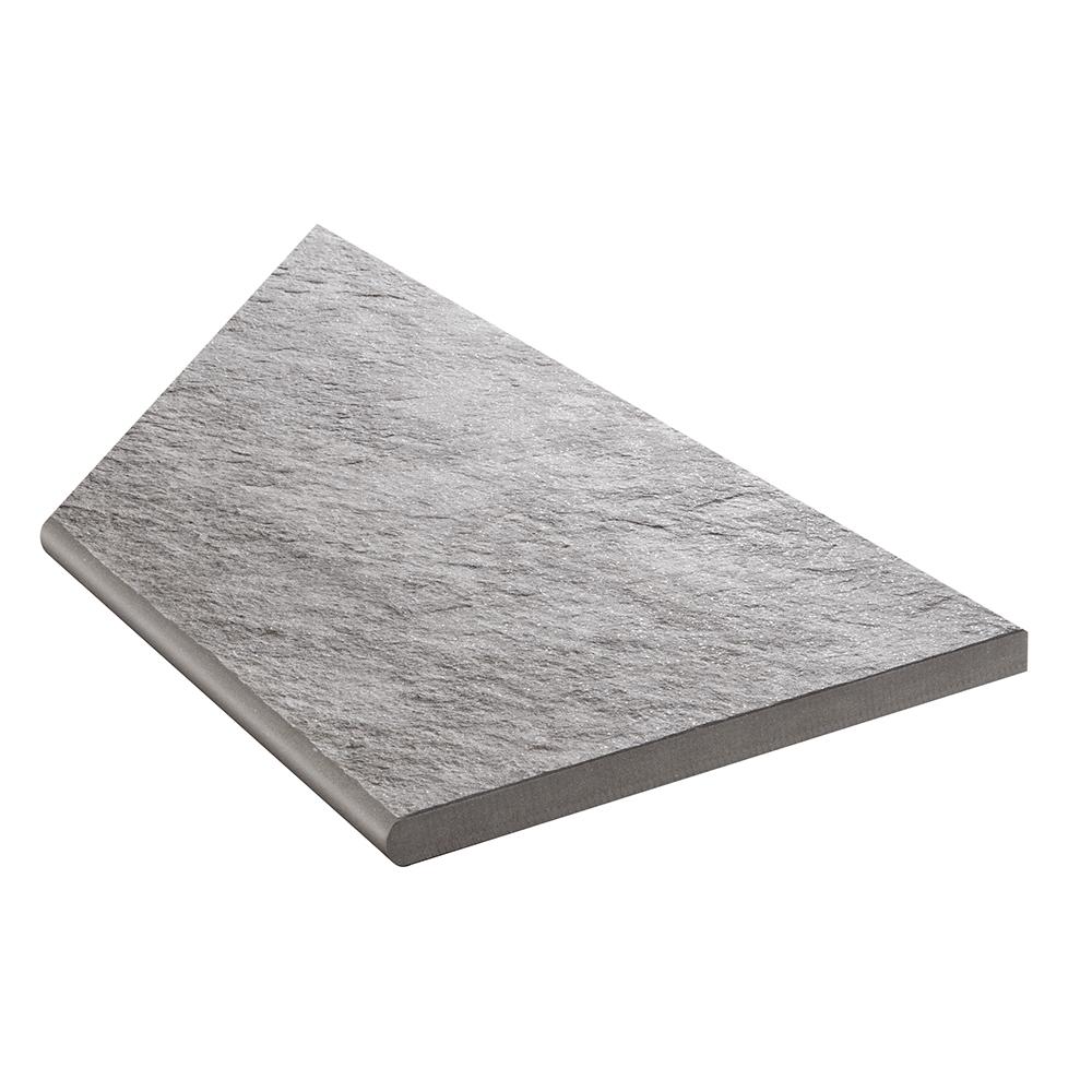 Klinker Bricmate Z Quartzit Grey Pool Inner Corner Right 30×60 cm