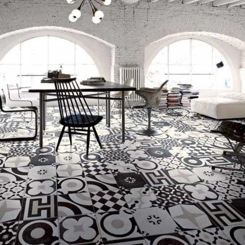 Klinker Cementine Black & White Mix 20×20 cm