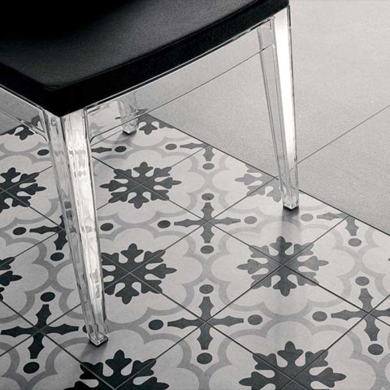 Klinker Cementine Black & White nr. 2 20x20 cm