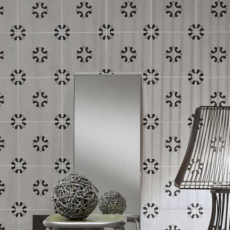 Klinker Cementine Black & White nr. 3 20×20 cm
