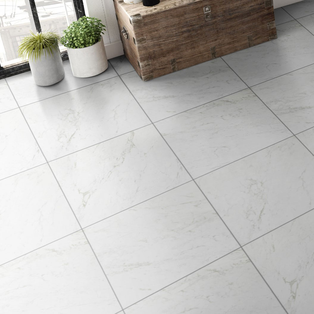Klinker Coem Marmor B. Carrara Semipolerad 60×60 cm