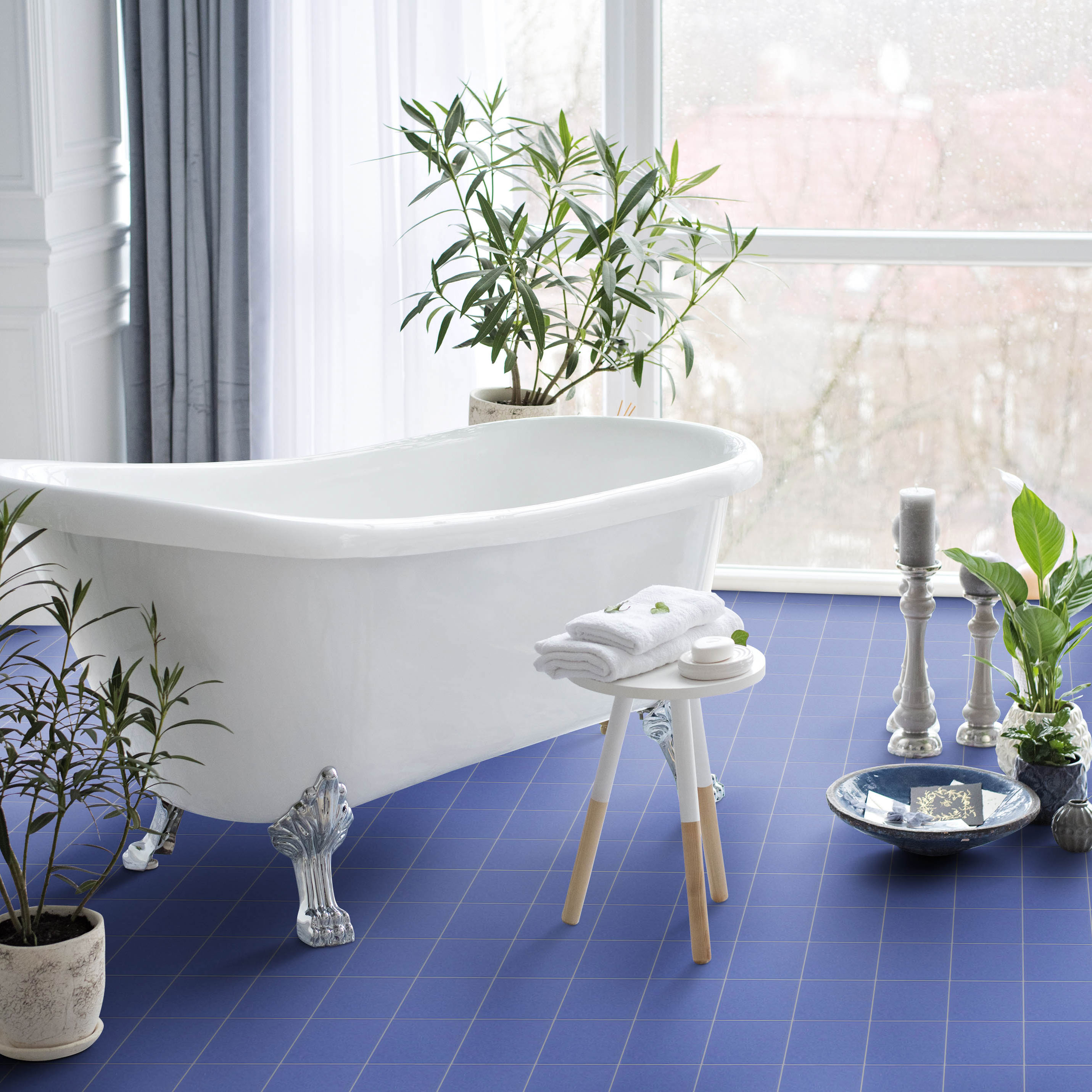 Klinker Unicolor Blue 10×10 cm