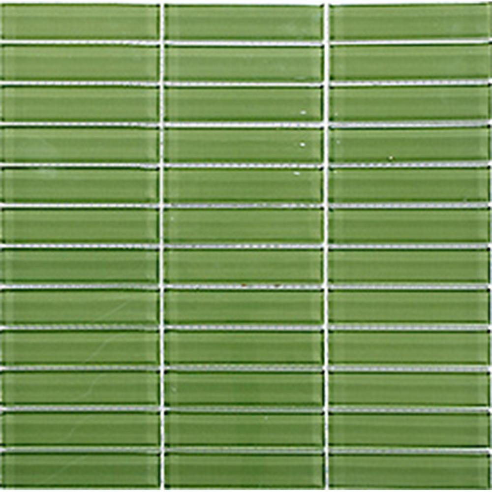 Kristallmosaik Arredo Blank Grön 2,3×9,8 cm