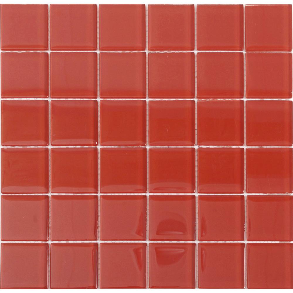 Kristallmosaik Arredo Blank Röd 4,8×4,8 cm