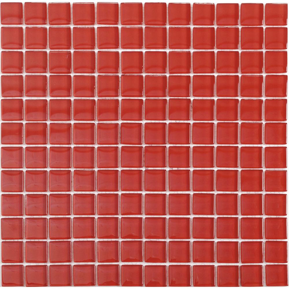 Kristallmosaik Arredo Blank Röd 2,3×2,3 cm