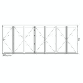 Lacuna Foldedør 7-dørs Hvit