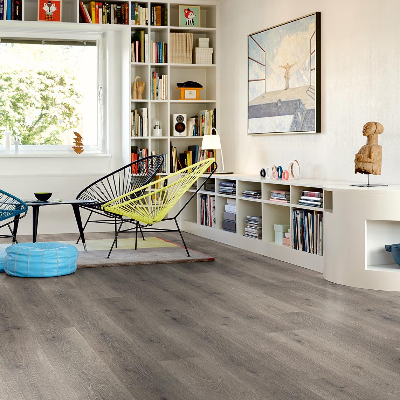 Laminatgolv Pergo Classic Plank Bergsgrå Ek 1-Stav