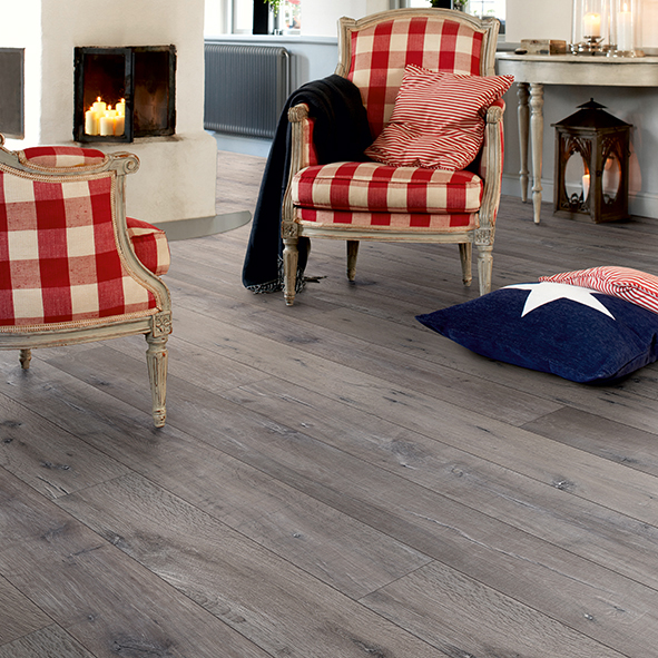 Laminatgolv Pergo Long Plank 4V Reclaimed Grey Oak 1-Stav