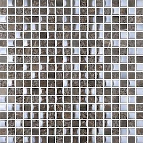 Mosaikk Bricmate T1515 Emperador Mix Glam 1,5x1,5 cm