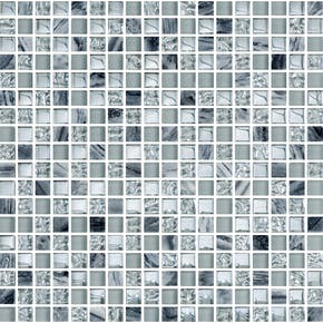 Mosaikk Bricmate T1515 Grey Mix Stone Glam 1,5x1,5 cm