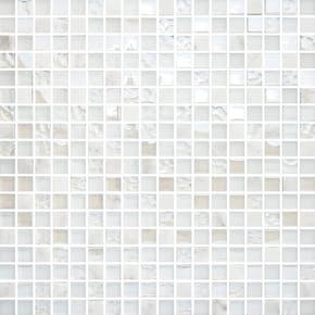 Mosaikk Bricmate T1515 White Mix Carrara Glam 1,6x1,5 cm