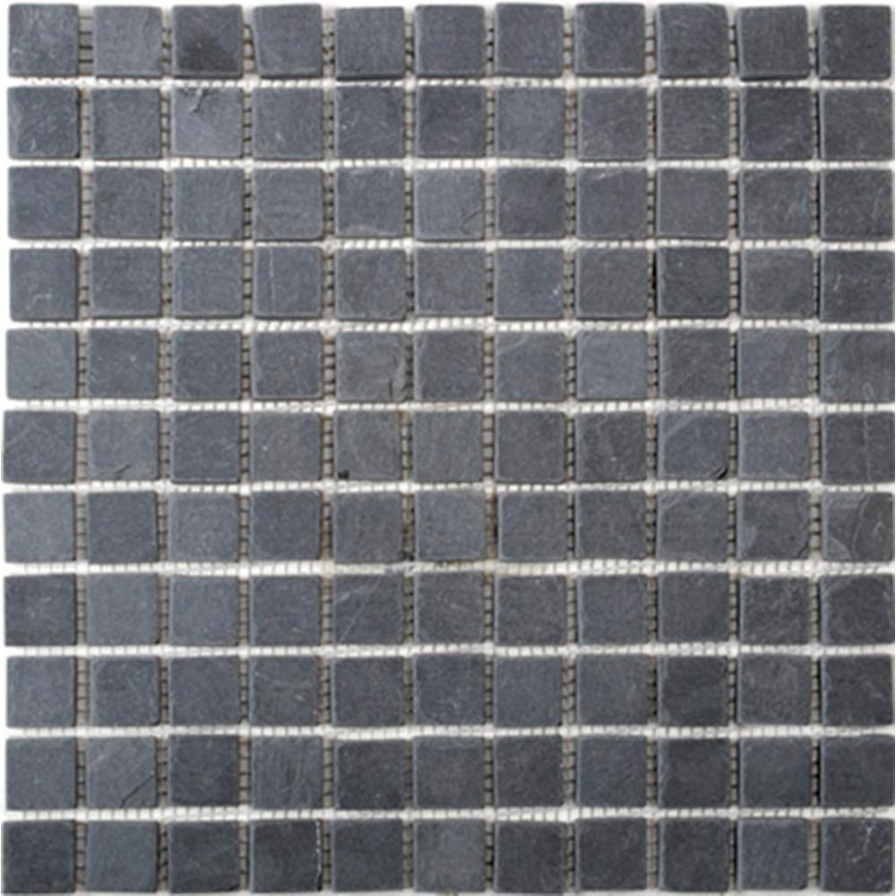Natursten Skiffer Svart Mosaik 25x25 mm