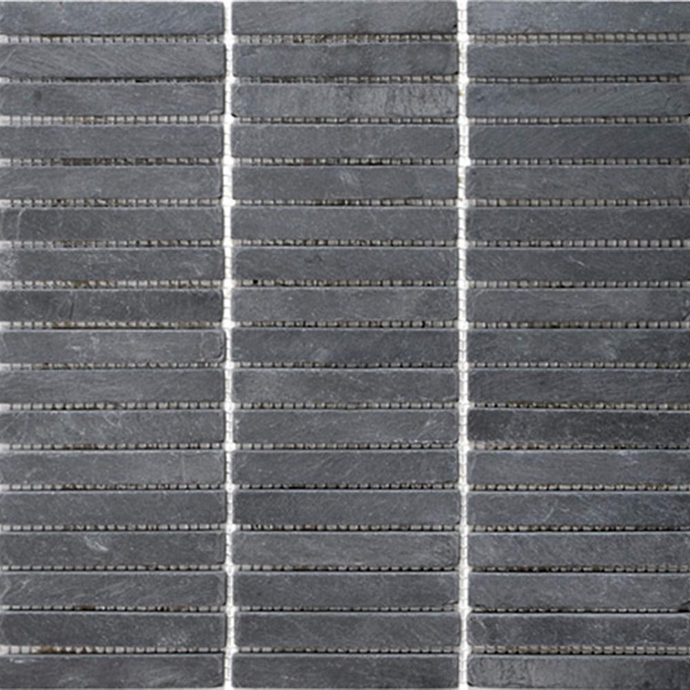 Natursten Skiffer Svart Stripes 2×10 cm