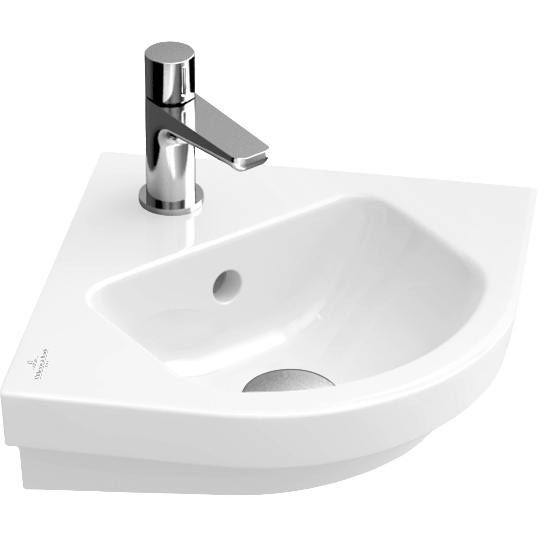 Tvättställ Villeroy & Boch Subway 2.0 Kvartscirkel 450 mm