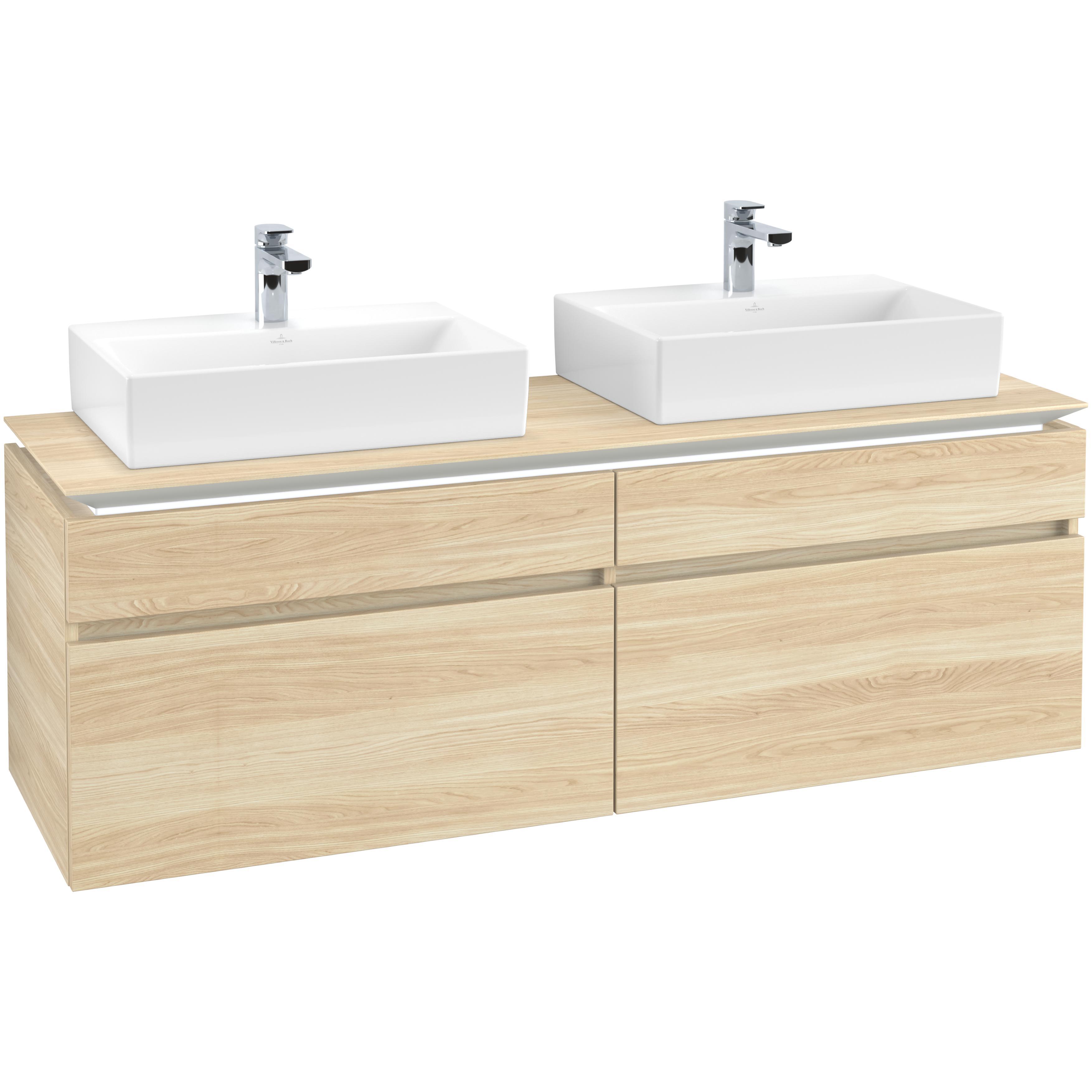 Tvättställsskåp Villeroy & Boch Legato 1600 med 4 Lådor för Två Tvättställ från Memento