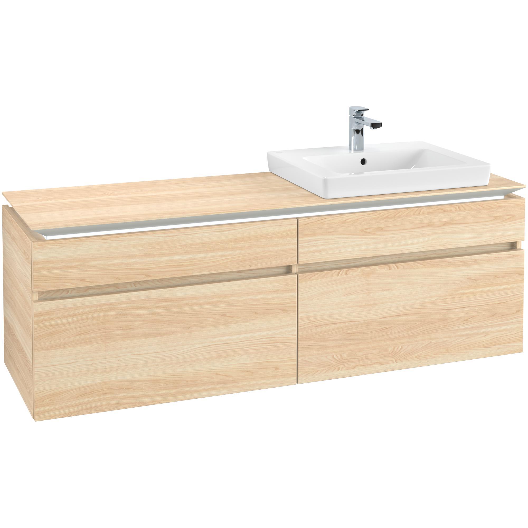 Tvättställsskåp Villeroy & Boch Legato 1600 med 4 Lådor för Ocentrerat Tvättställ från Finion & Subway