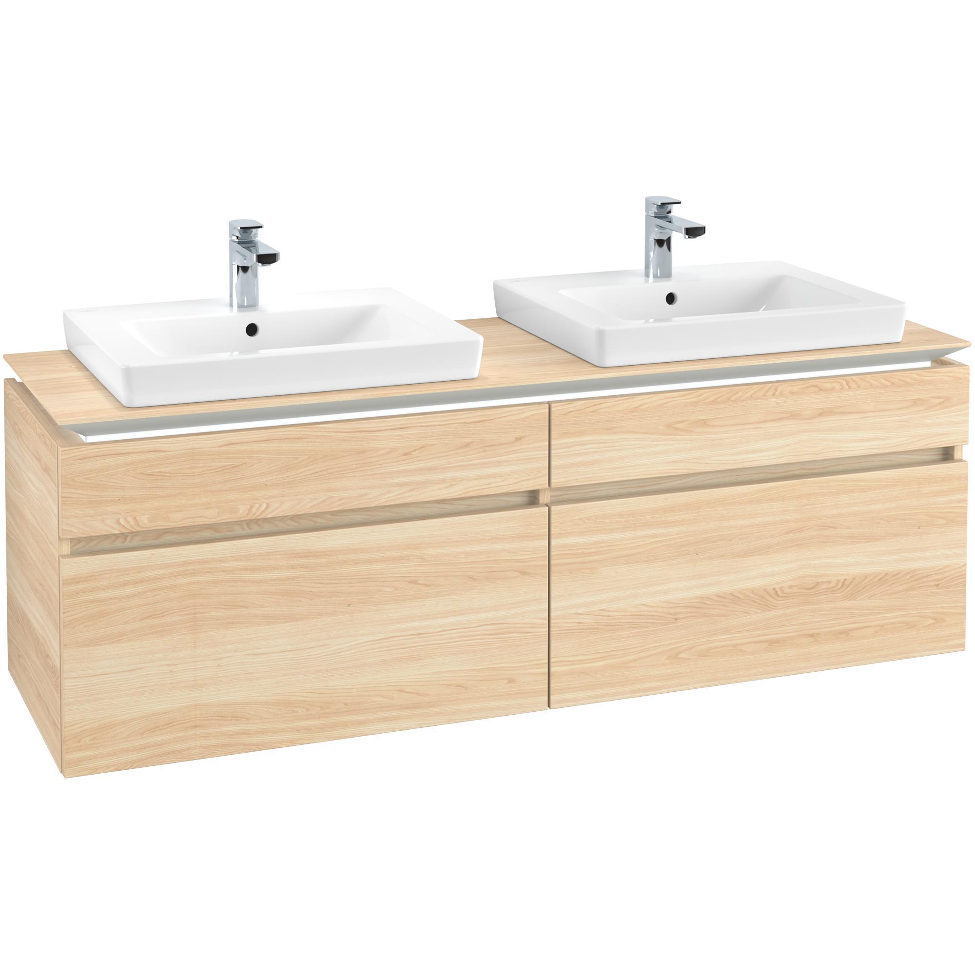 Tvättställsskåp Villeroy & Boch Legato 1600 med 4 Lådor för Två Tvättställ från Finion & Subway
