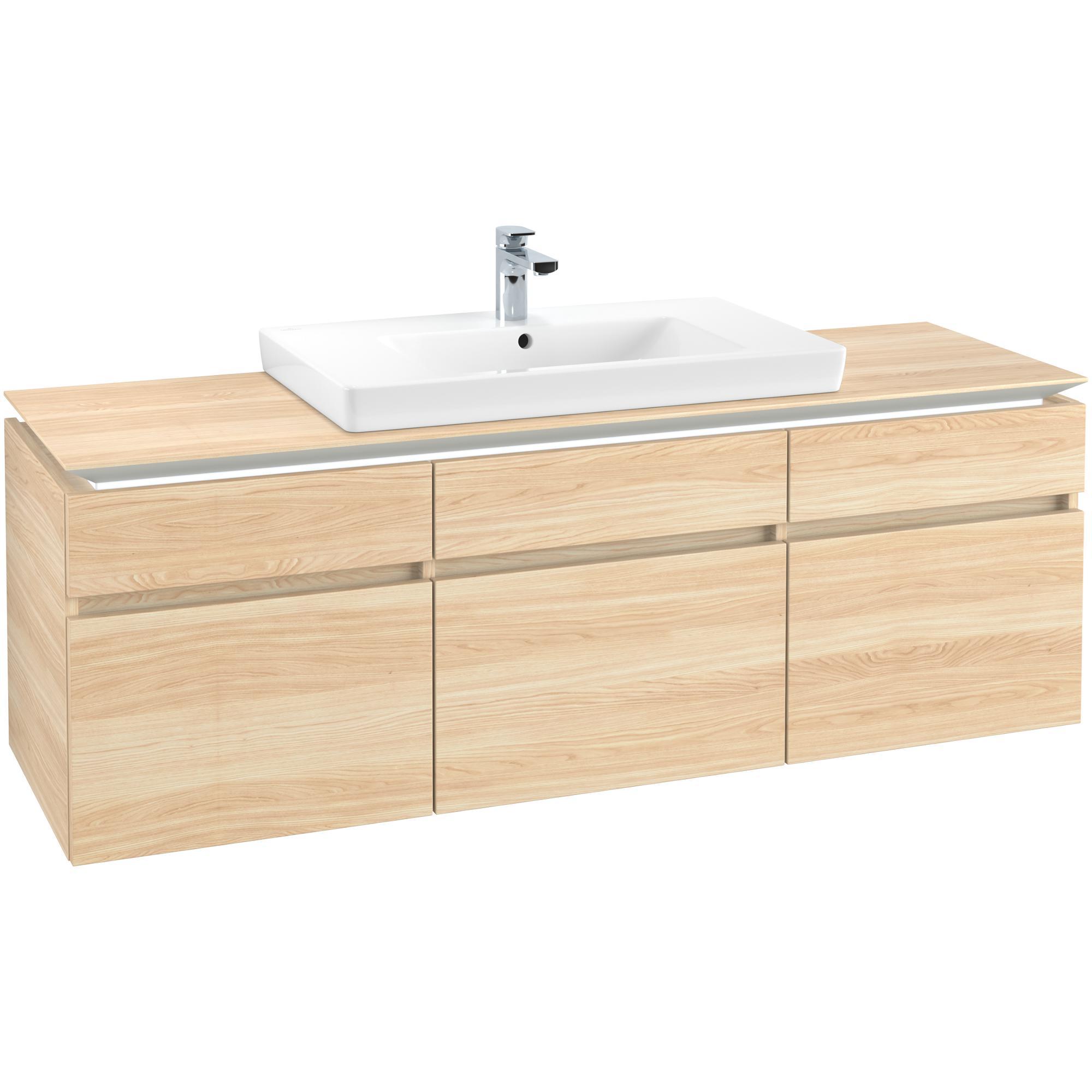 Tvättställsskåp Villeroy & Boch Legato med 5 Lådor för Skåptvättställ
