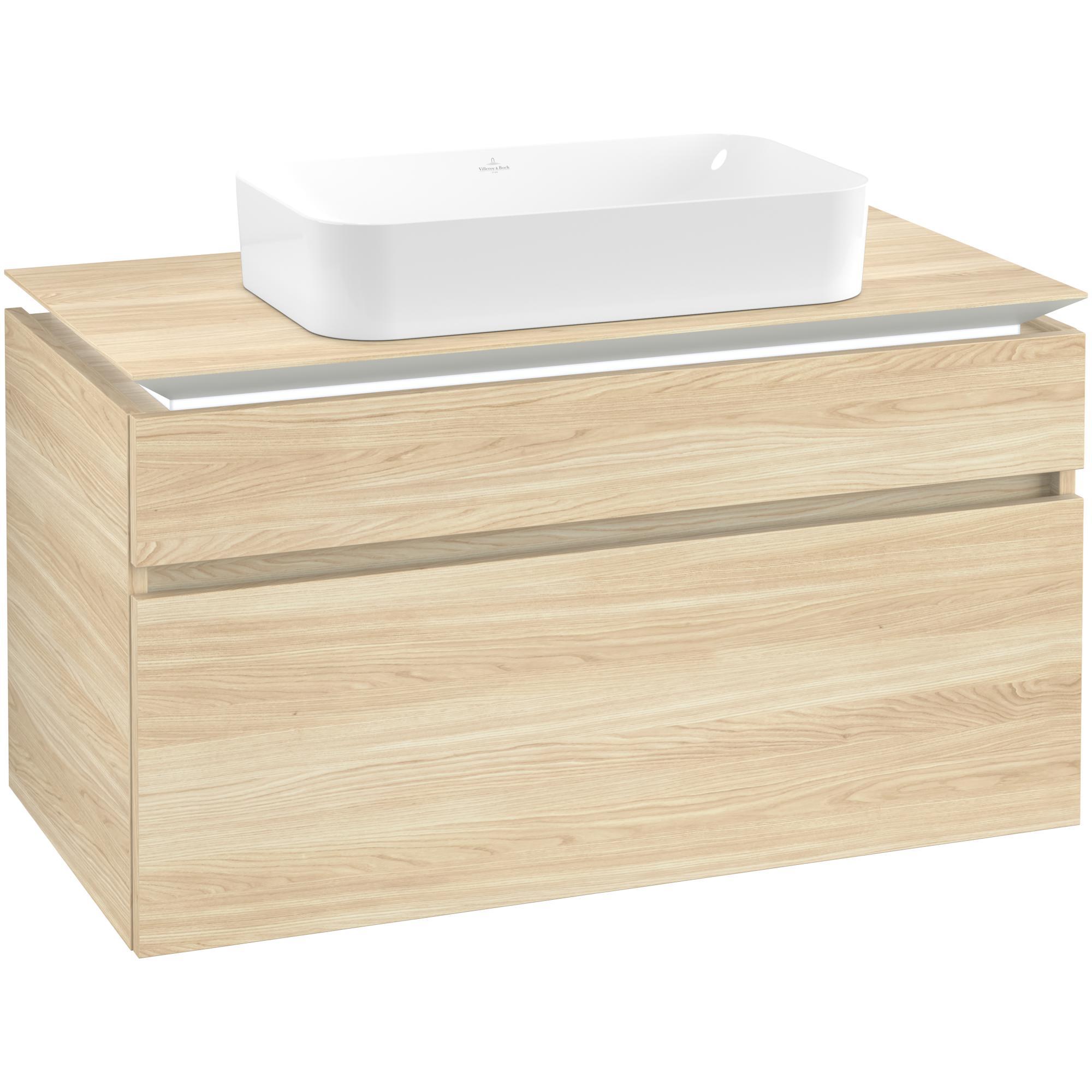 Tvättställsskåp Villeroy & Boch Legato med 2 Lådor för Ytmonterat Tvättställ från Finion