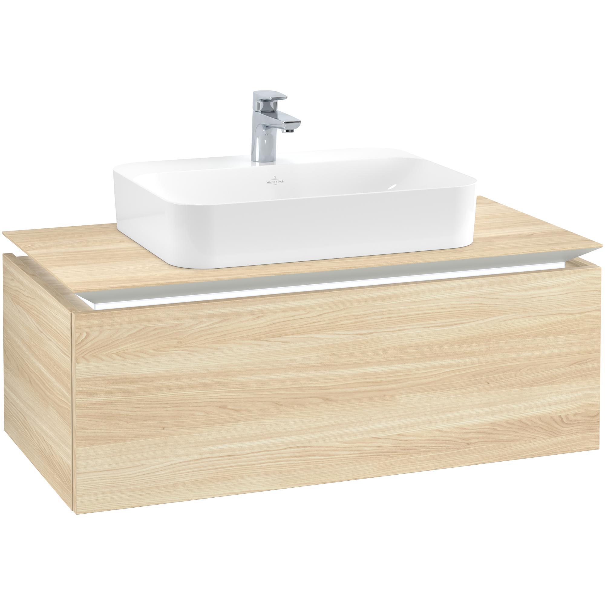 Tvättställsskåp Villeroy & Boch Legato Kompakt med 1 Låda för Ytmonterat Tvättställ från Finion & Memento